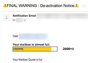 Your Mailbox Quota is Full - Email Phishing Scam