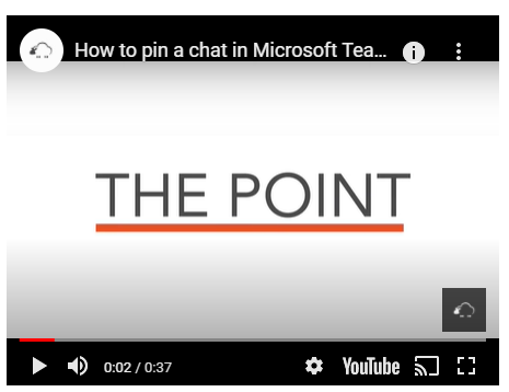 Pin a chat in Microsoft Teams